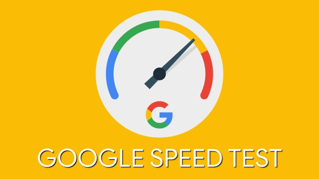 google search cosole speed test