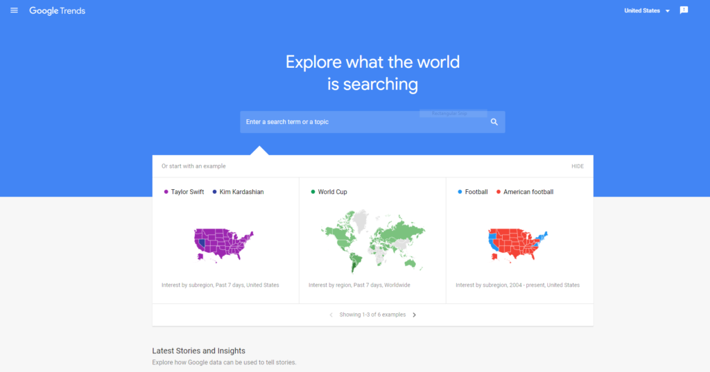 Google Trends - Free Keyword Research tool
