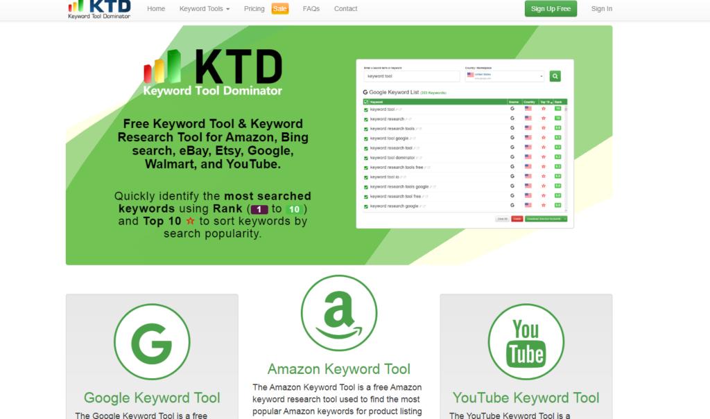 Keyword Tool Dominator - Free Keyword Research Tool - AMH Web Studio